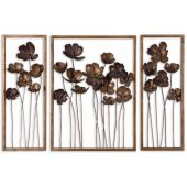 Uttermost Metal Tulips Wall Art  3個組