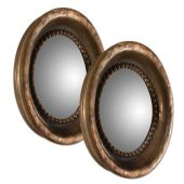 Uttermost Tropea Rounds Wood Mirror  2個組