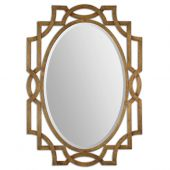 Uttermost Margutta Gold Oval Mirror