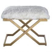 Uttermost Farran Fur Small Bench