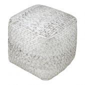 Uttermost Valda Gray Wool Pouf