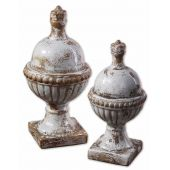 Uttermost Sini Ceramic Finials  2個組