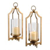 Uttermost Lucy Gold Candleholders  2個組
