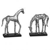 Uttermost Let's Graze Horse Statues  2個組