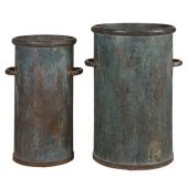 Uttermost Barnum Tarnished Copper Cans  2個組