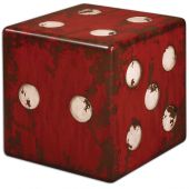 Uttermost Dice Red Accent Table