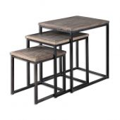 Uttermost Bomani Wood Nesting Tables  3個組