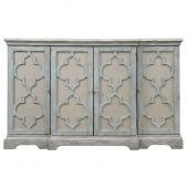 Uttermost Sophie 4 Door Grey Cabinet