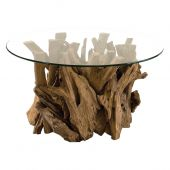 Uttermost Driftwood Glass Top Cocktail Table