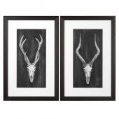 Uttermost Rustic European Mounts Prints  2個組