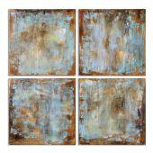 Uttermost Accent Tiles Modern Art  4個組