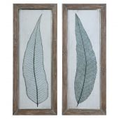 Uttermost Tall Leaves Framed Art  2個組
