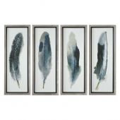 Uttermost Feathered Beauty Prints  4個組