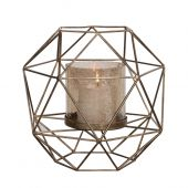 Uttermost Myah Geometric Gold Candleholder