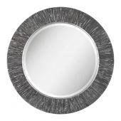 Uttermost Wenton Round Aged Wood Mirror