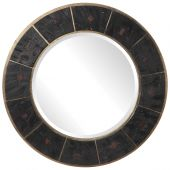 Uttermost Kerensa Dark Wood Round Mirror