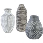 Uttermost Natchez Geometric Vases  3個組