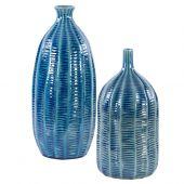 Uttermost Bixby Blue Vases  2個組
