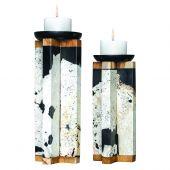 Uttermost Illini Stone Candleholders  2個組