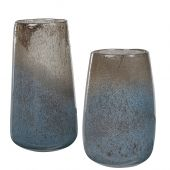 Uttermost Ione Seeded Glass Vases  2個組