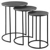 Uttermost Erik Metal Nesting Tables  3個組