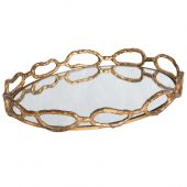Uttermost Cable Chain Mirrored Tray