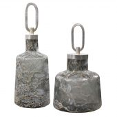 Uttermost Storm Art Glass Bottles  2個組