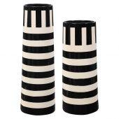 Uttermost Amhara Black & White Vases  2個組