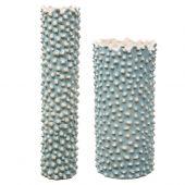 Uttermost Ciji Aqua Ceramic Vases  2個組
