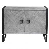 Uttermost Keyes 2 Door Gray Cabinet