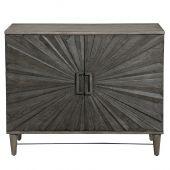 Uttermost Shield Gray Oak 2 Door Cabinet