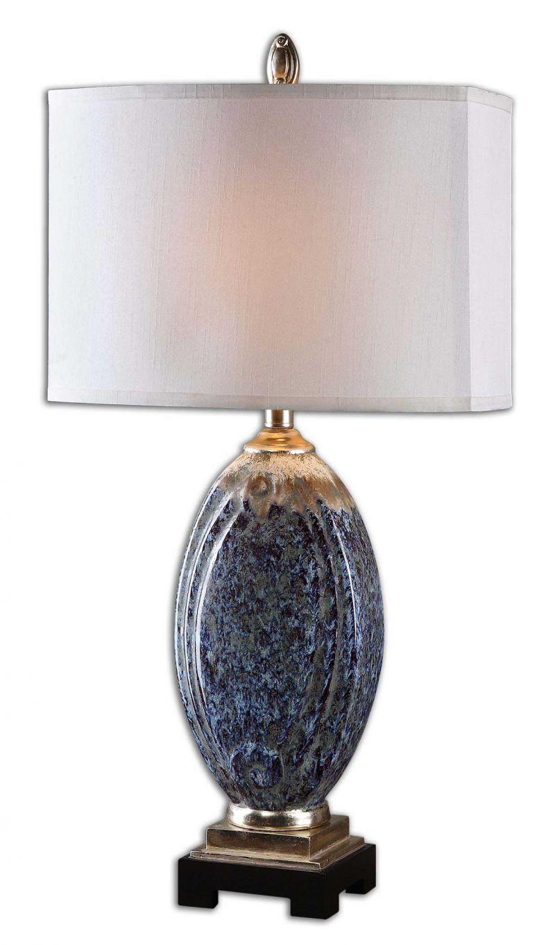 Uttermost Blue Latah Lamp