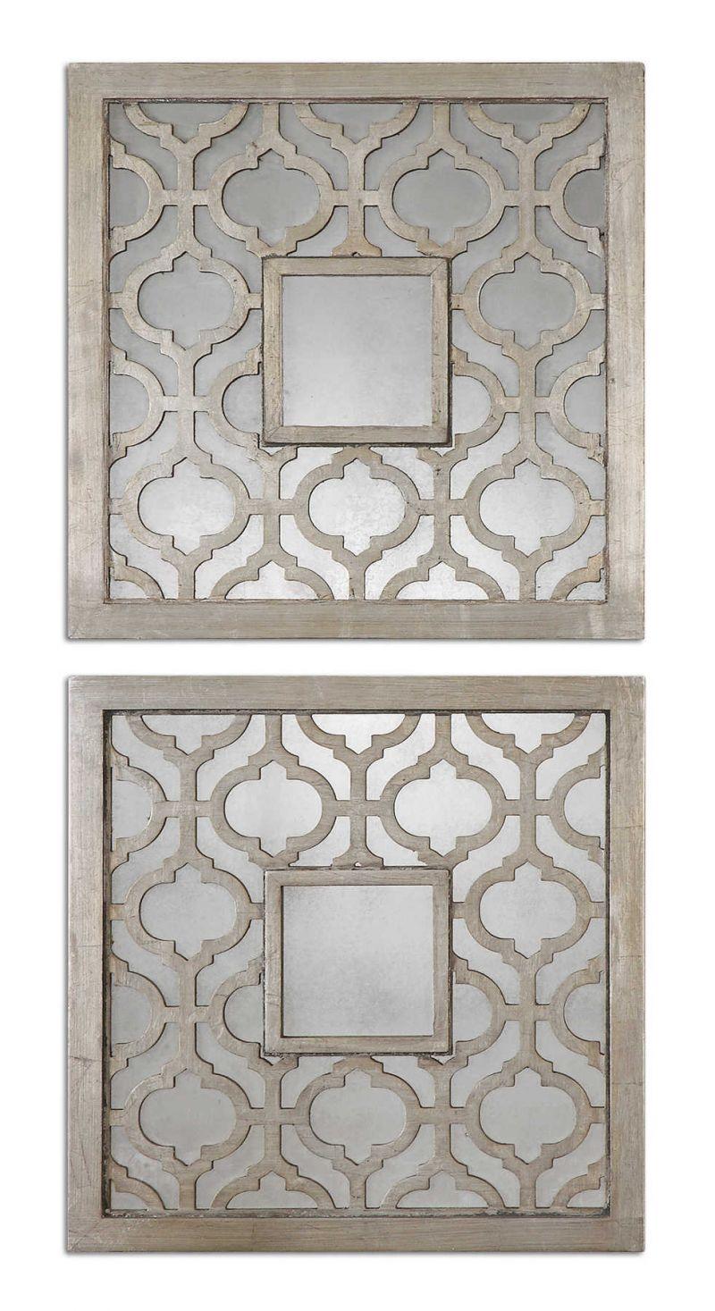 Uttermost Sorbolo Squares Decorative Mirror  2個組