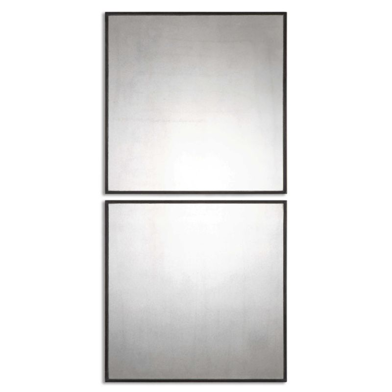 Uttermost Matty Antiqued Square Mirrors  2個組