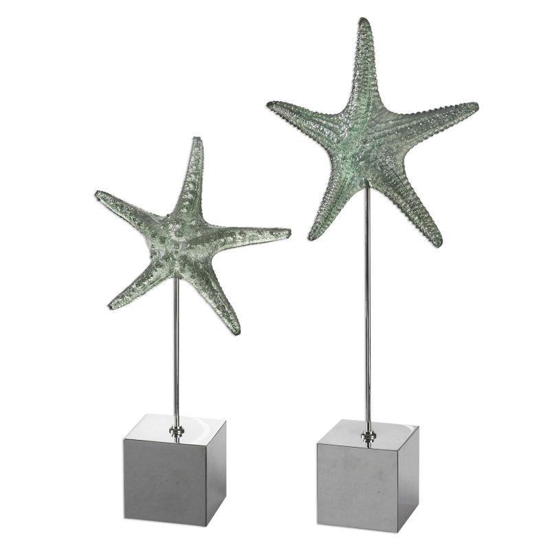 Uttermost Starfish Sculpture  2個組