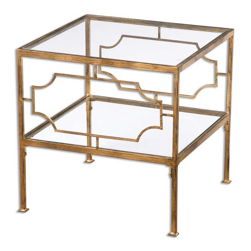 Uttermost Genell Gold Cube Table