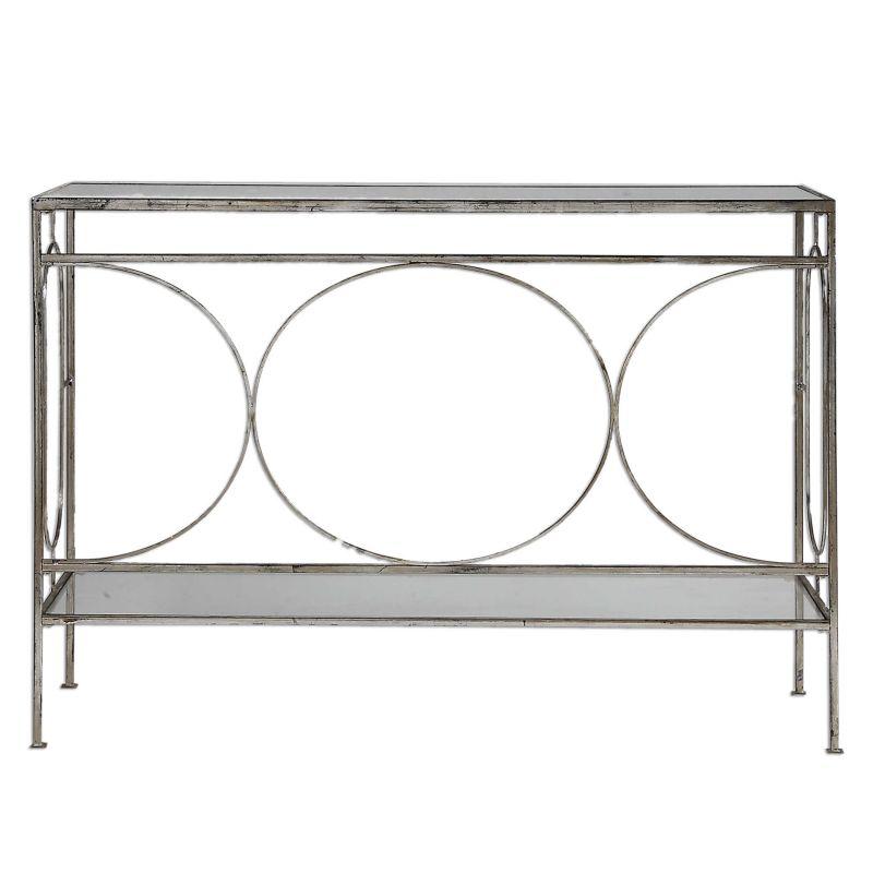 Uttermost Luano Silver Console Table
