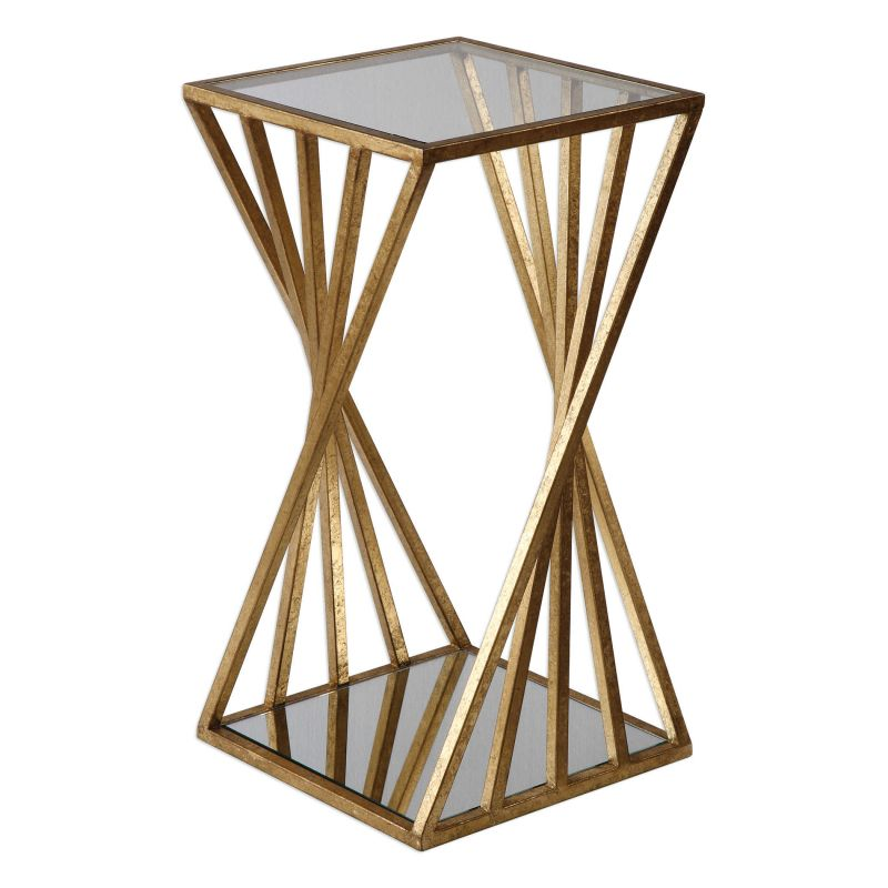 Uttermost Janina Gold Dimensional Accent Table