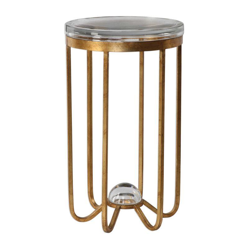 Uttermost Allura Gold Accent Table
