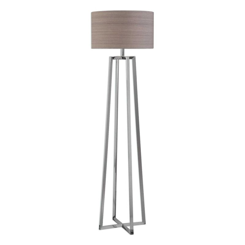 Uttermost Keokee Polished Nickel Floor Lamp