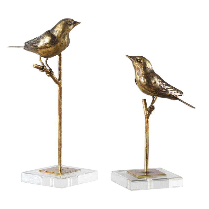 Uttermost Passerines Bird Sculptures  2個組