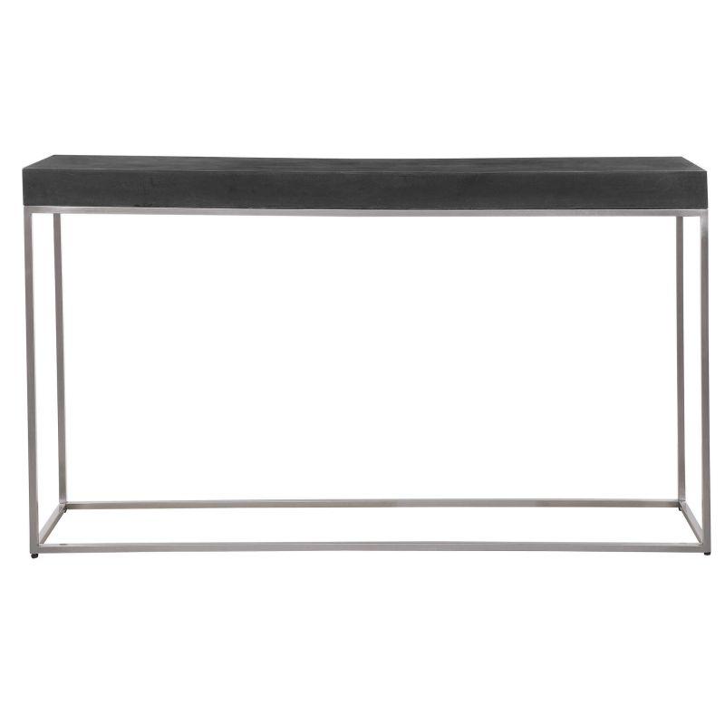Uttermost Jase Black Concrete Console Table